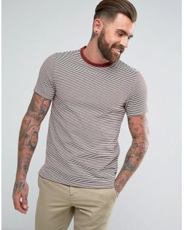 Vyner Slim Fit Thin Striped T-shirt In Red