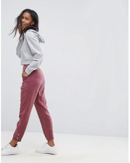 Buckle Cut Out Back Peg Trousers