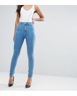 Ridley High Waist Skinny Jeans In Harry Lightwash Blue