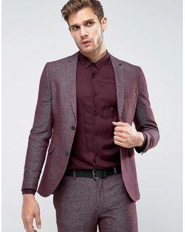 Premium Skinny Suit Jacket In Texture