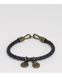 A-santy Leather Charm Bracelet In Black