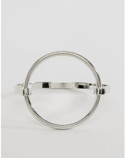 Sleek Open Circle Cuff Bracelet