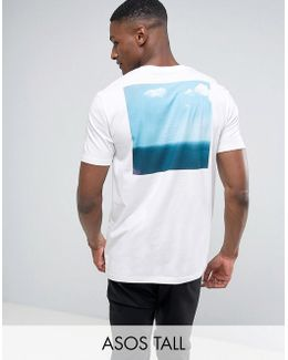 Tall Relaxed T-shirt With Photographic Back Print