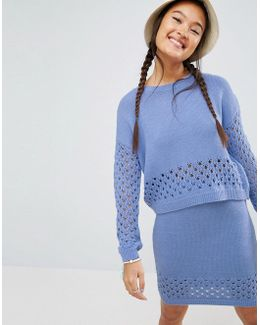 Co-ord Jumper With Pointelle Stitch Detail