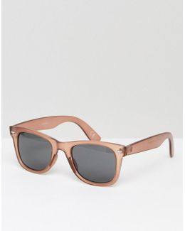 Square Sunglasses In Crystal Dusky Rose