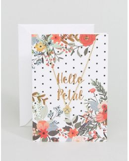 Hello Petal Flower Giftcard Necklace