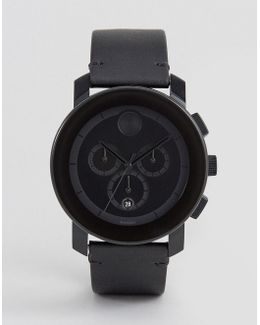 Bold 3600337 Chronograph Leather Watch In Black