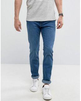 Man Slim Jeans In Mid Wash Blue