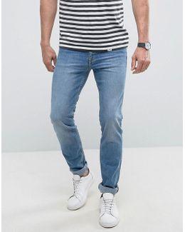 Man Slim Jeans In Light Wash Blue