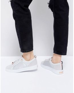 Kulei Light Gray Leather Sneakers