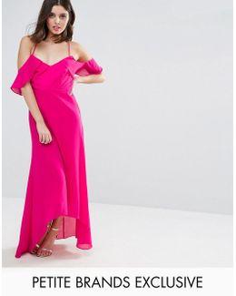 Td By Cold Shoulder Maxi Dress