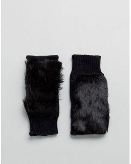 Paw & Faux Fur Palmwarmers