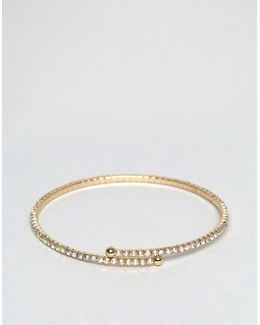 Iridescent Crystal Cuff Bracelet