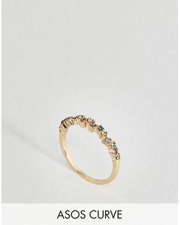 Rainbow Stone Ring