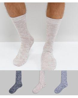 Socks In Space Dye Texture 3 Pack