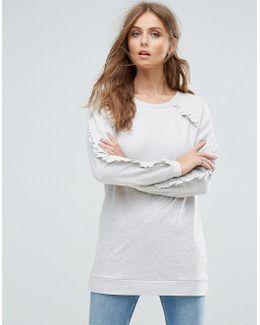 Gina Frill Long Sweatshirt