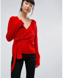 Jumper With Wrap And Tie