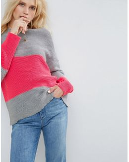 Jumper With Colour Block