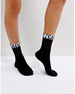 Modern Logo Tube Short Sock