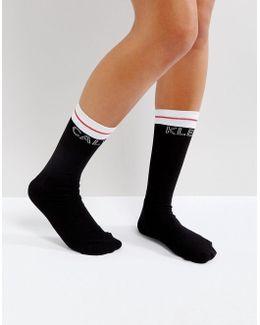 Moder Cotton Logo Short Sock
