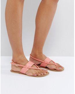 Forgive Me Leather Flat Sandals