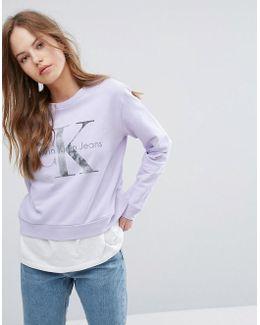 Jeans Long Sleeve Sweatshirt