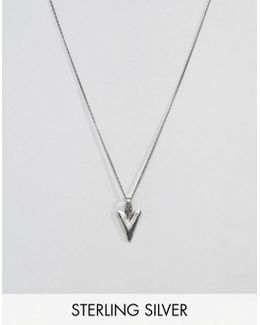 Sterling Silver Necklace With Arrow Pendant