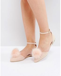 Goldie Pom Pom Flat Shoes