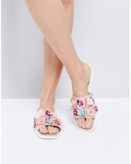 Rihanne Embellished Slider Sandals