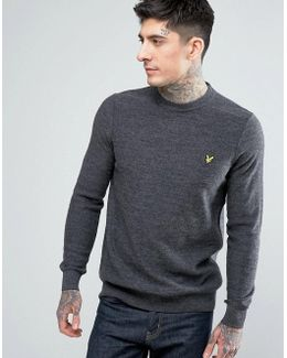 Crew Neck Boiled Wool Sweater