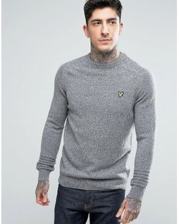 Crew Neck Links Detail Sweater