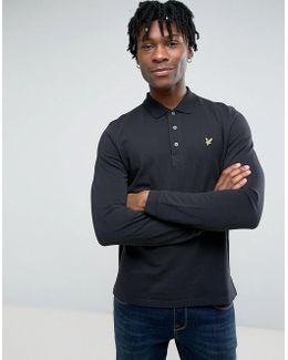 Long Sleeve Plain Polo Shirt
