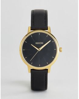 Black Leather Kensington Watch
