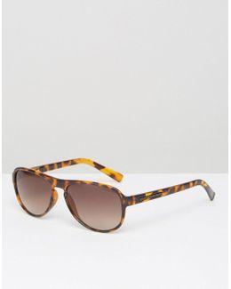 Tortoishell Aviator Sunglasses