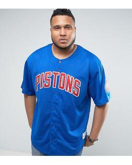 Plus Detroit Pistons Nba Mesh T-shirt