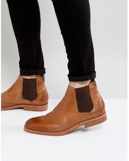 Tonti Leather Chelsea Boots In Tan