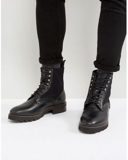 Elmore Leather Lace Up Boots