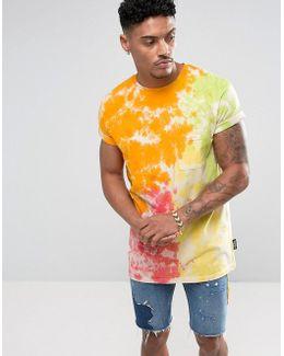 T-shirt In Yellow Tie Dye