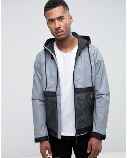Hooded Anorak With Reflective Panel