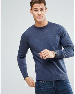 Long Sleeve Pocket Knit Sweater