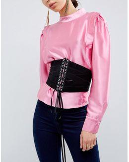 Multi Strap Elastic Lace Up Corset Belt