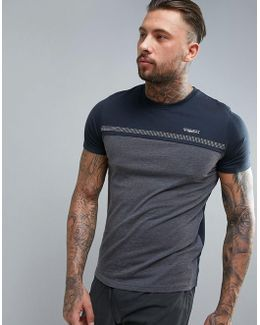 Tech T-shirt With Chest Stripe