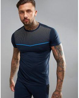 Tech T-shirt With Running Stripe