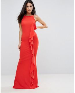 Ruffle Detail Maxi Dress