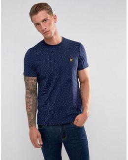 Mini Square Dot T-shirt Navy