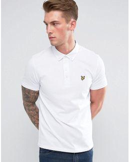 Woven Collar Polo Shirt White