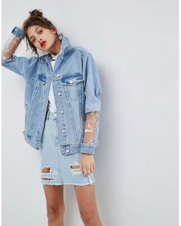 Denim Jacket With Clear Panels