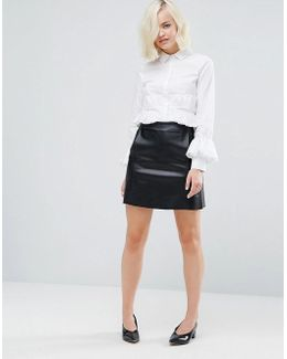 Mini Skirt In Faux Leather