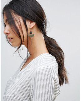 Crescent Bar Drop Earrings
