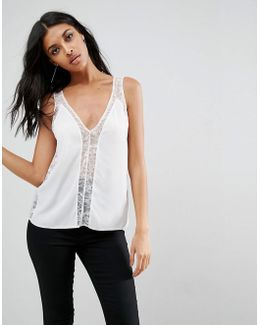 Vest With Lace Insert
